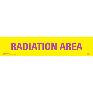 Radiation Area Radiation J-Sign Insert