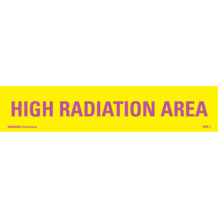 High Radiation Area J-Sign Insert