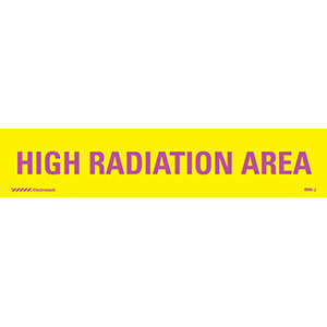 High Radiation Area J-Sign Insert