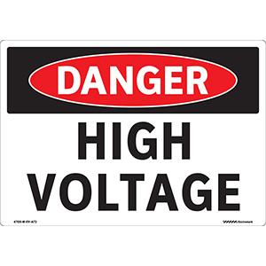 Curved  OSHA Danger Curved High Voltage Pole Sign