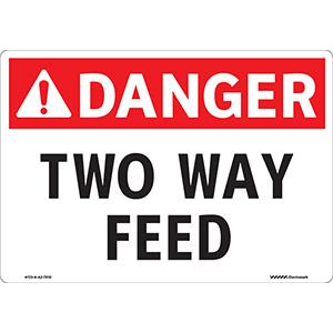 ANSI Danger Two Way Feed Label