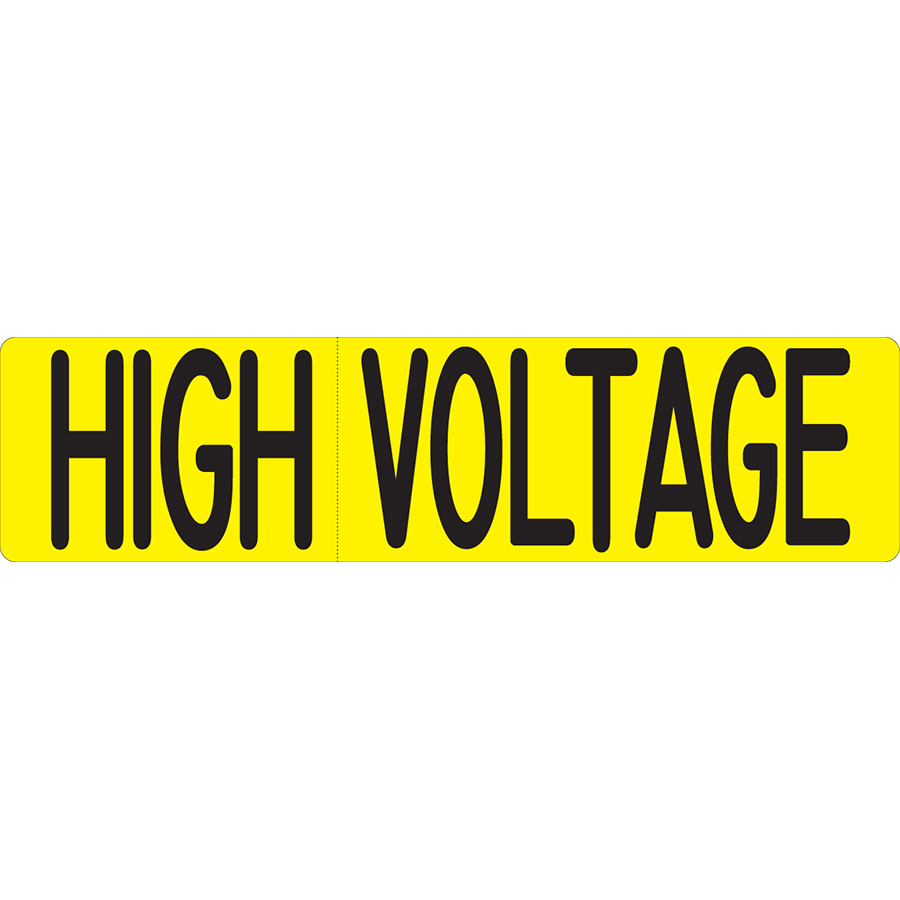 """High Voltage"" Cross Arm Signs"