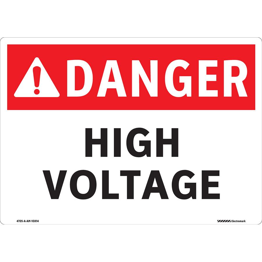 ANSI Danger High Voltage Sign
