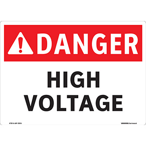 ANSI Danger High Voltage Sign