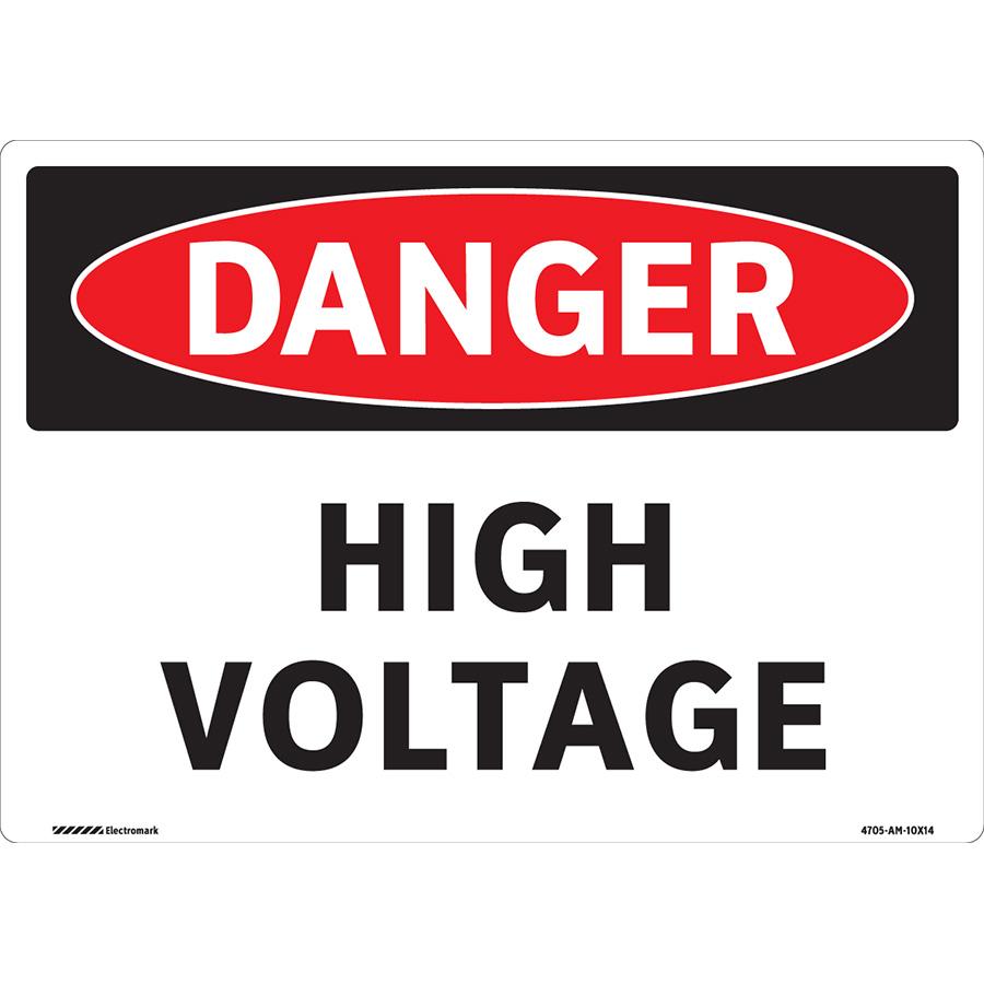 OSHA Danger High Voltage Sign