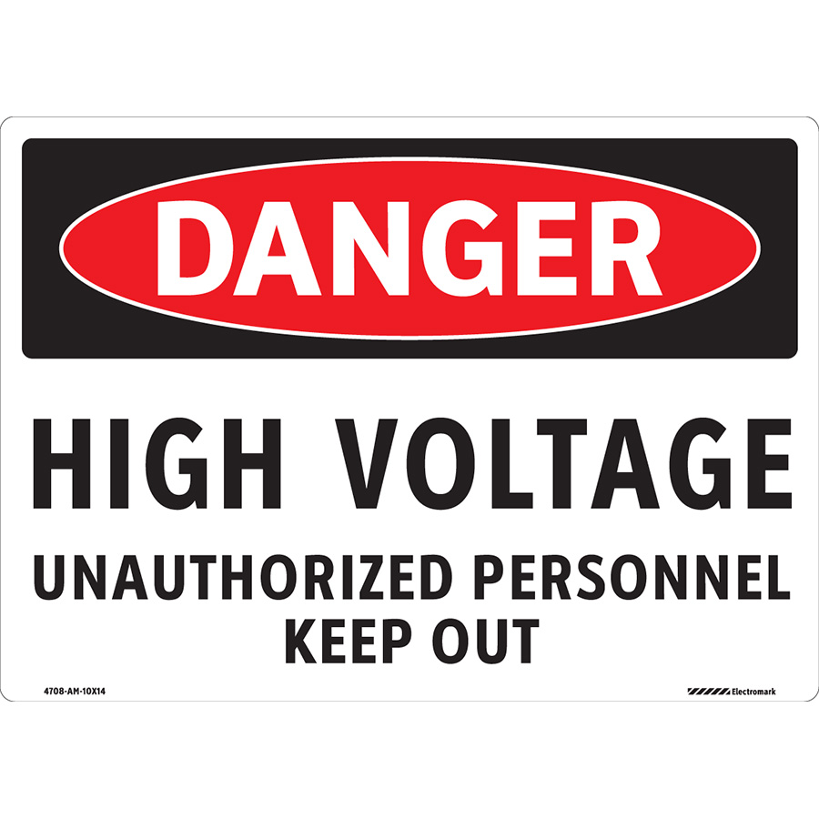 OSHA Danger Unauthorized Personnel Keep Out Sign