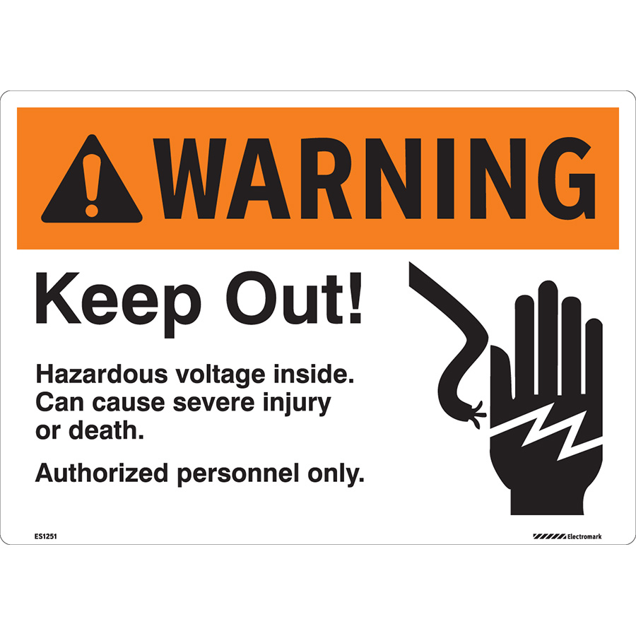 ANSI Warning Authorized Personnel Only Sign