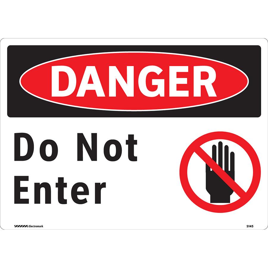 OSHA Danger Do Not Enter Sign