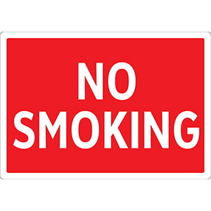 Red No Smoking Sign
