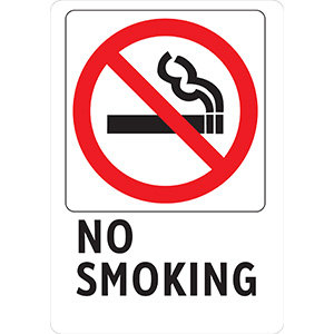 Vertical No Smoking Sign