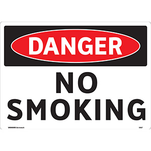 OSHA Danger No Smoking Sign