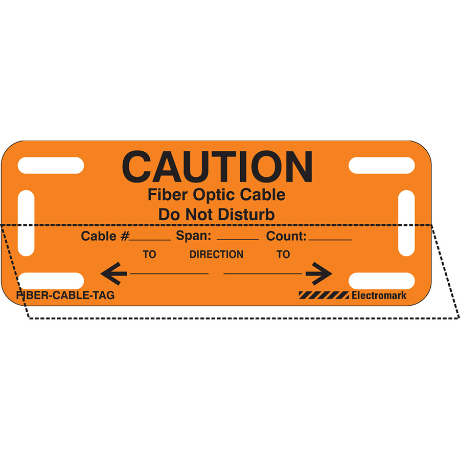 Caution: Do Not Disturb Self-Laminating Cable Marker