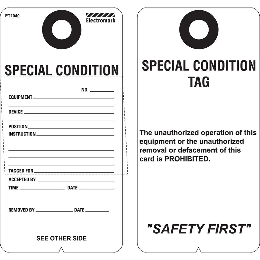 Special Condition Tag