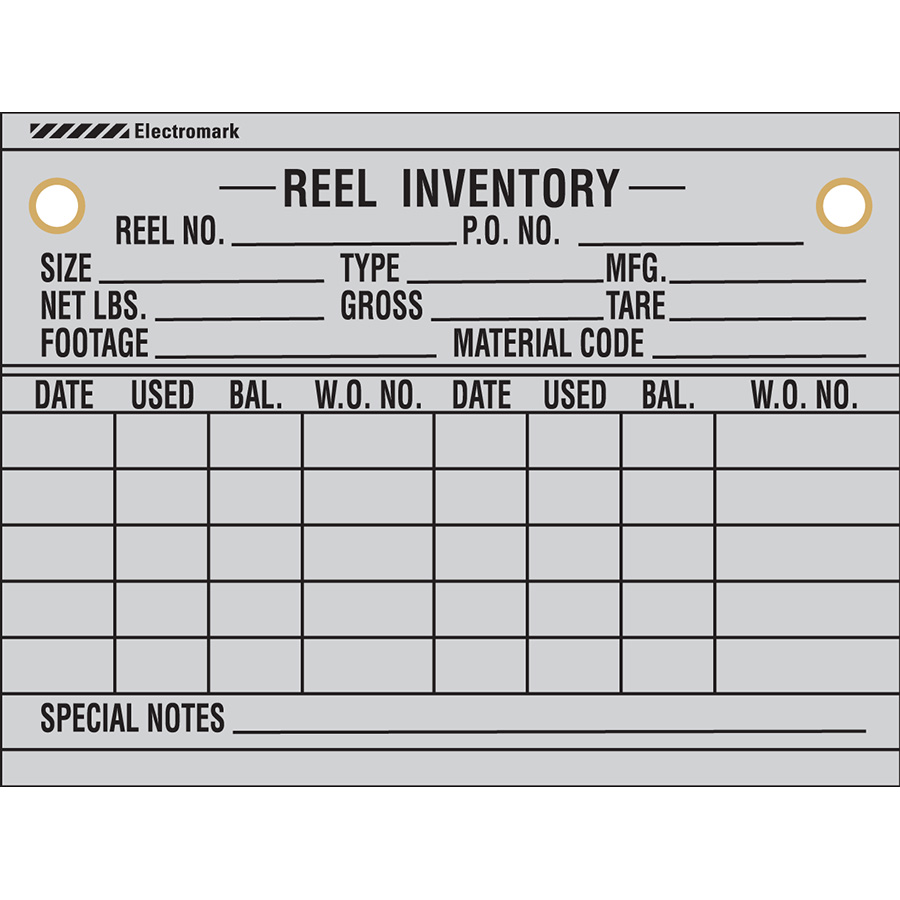Reel Inventory Tag