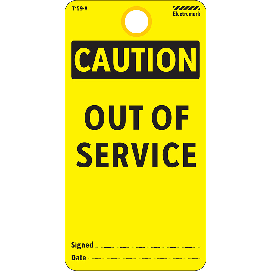 OSHA Caution Out of Service Tag - Vinyl