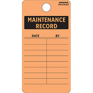 Maintenance Record Tag - Vinyl
