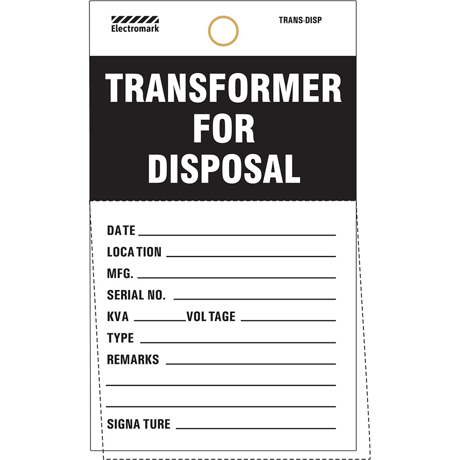 Transformer For Disposal Tag