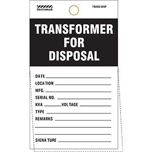 Transformer For Disposal Tag