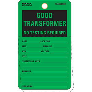Transformer Good For Service Tag