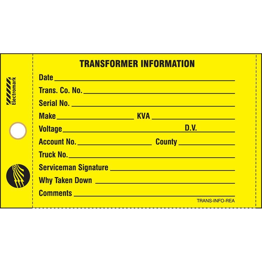 Transformer Information Tag