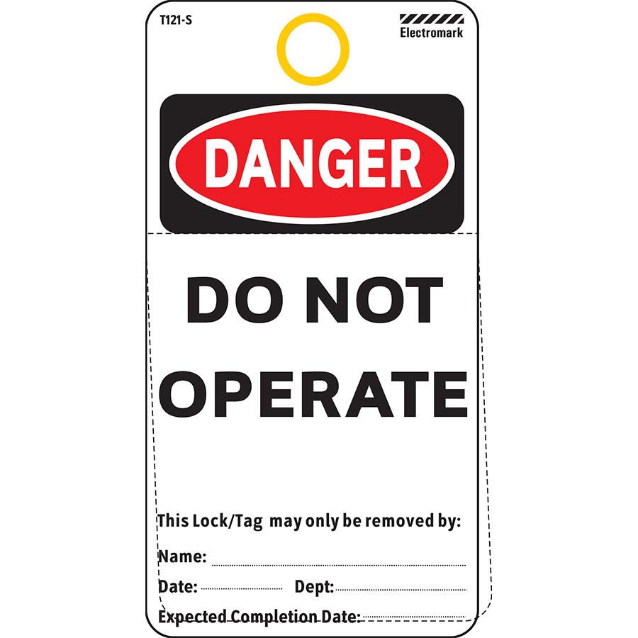 OSHA Danger Do Not Operate Tag