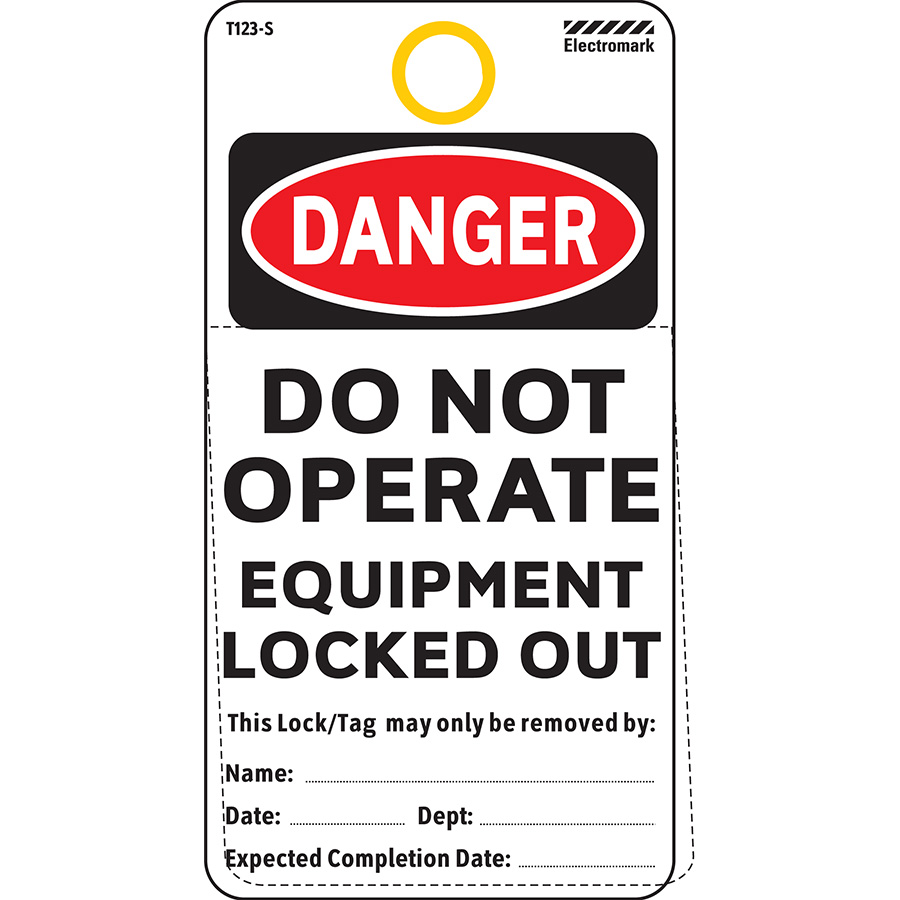 Danger Do Not Operate Equipment Locked Out Tag - Polyester