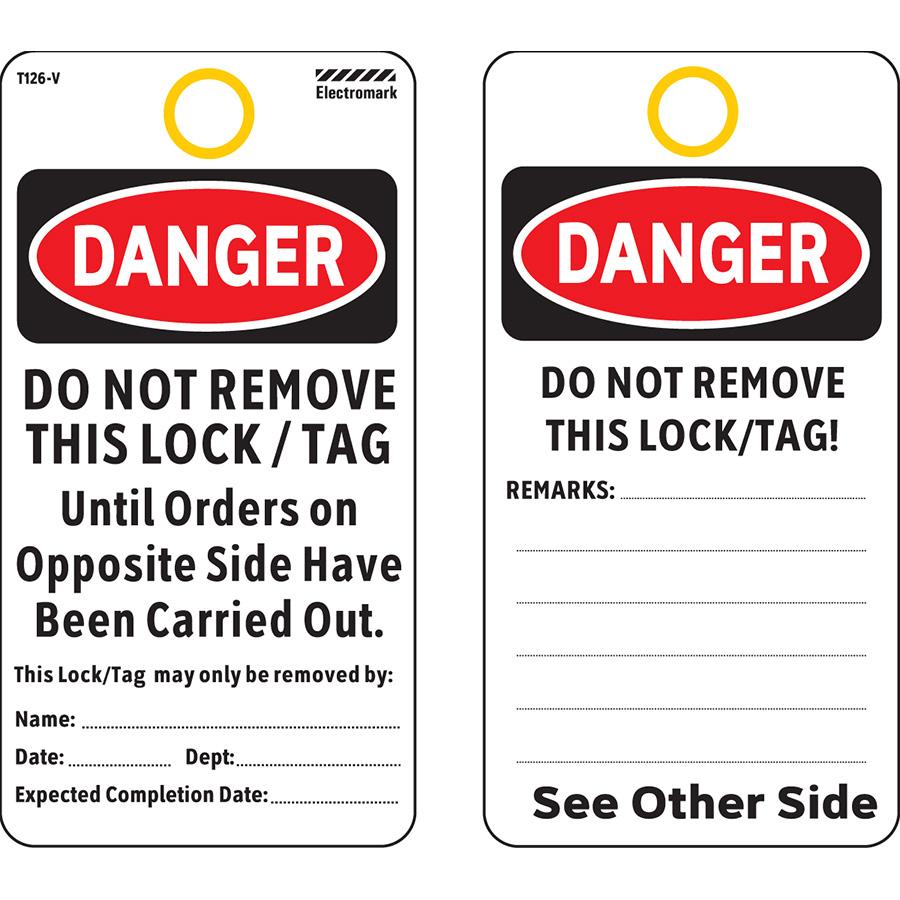 OSHA Danger Do Not Remove this Lock/Tag Tag - Vinyl