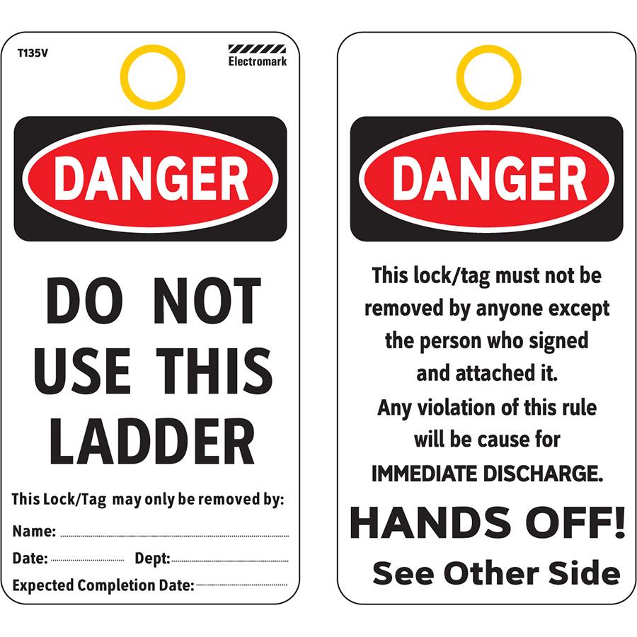 OSHA Danger Do Not Use This Ladder - Vinyl