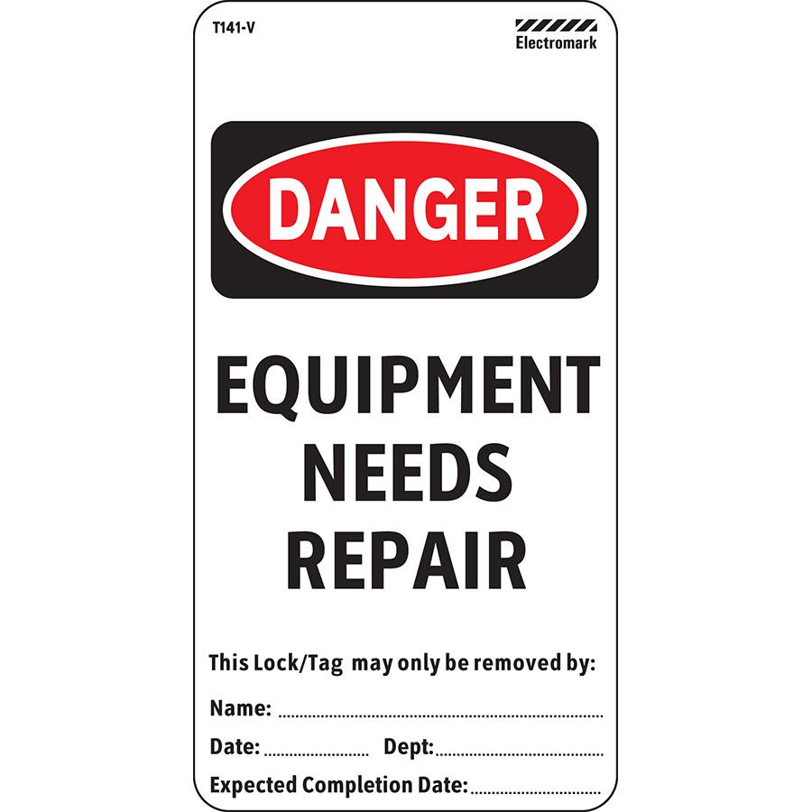 OSHA Danger Equipment Needs Repair - Vinyl