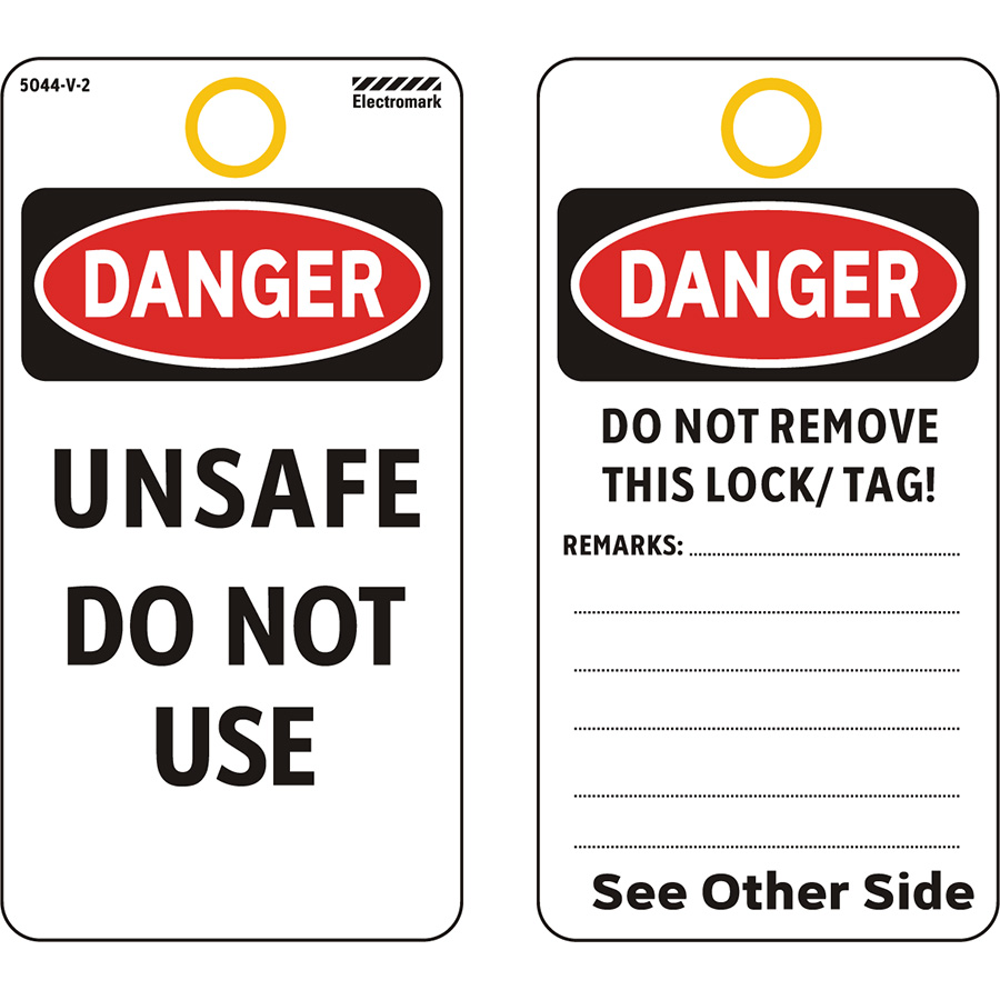 OSHA Danger Unsafe Do Not Use Tag - Vinyl