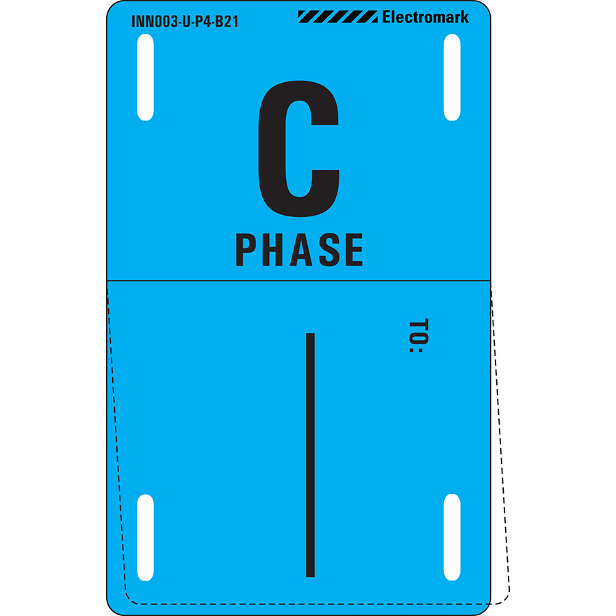 C Phase To: Write-On Phase Marker Tag