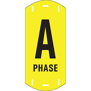 "Black on Yellow Letter ""A"" Riser Phase Markers"