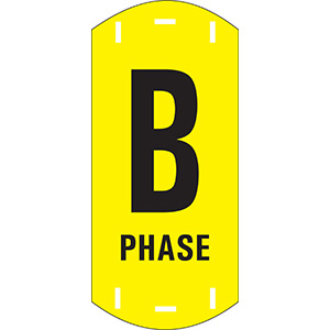 "Black on Yellow Letter ""B"" Riser Phase Markers"