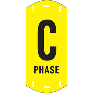 "Black on Yellow Letter ""C"" Riser Phase Markers"