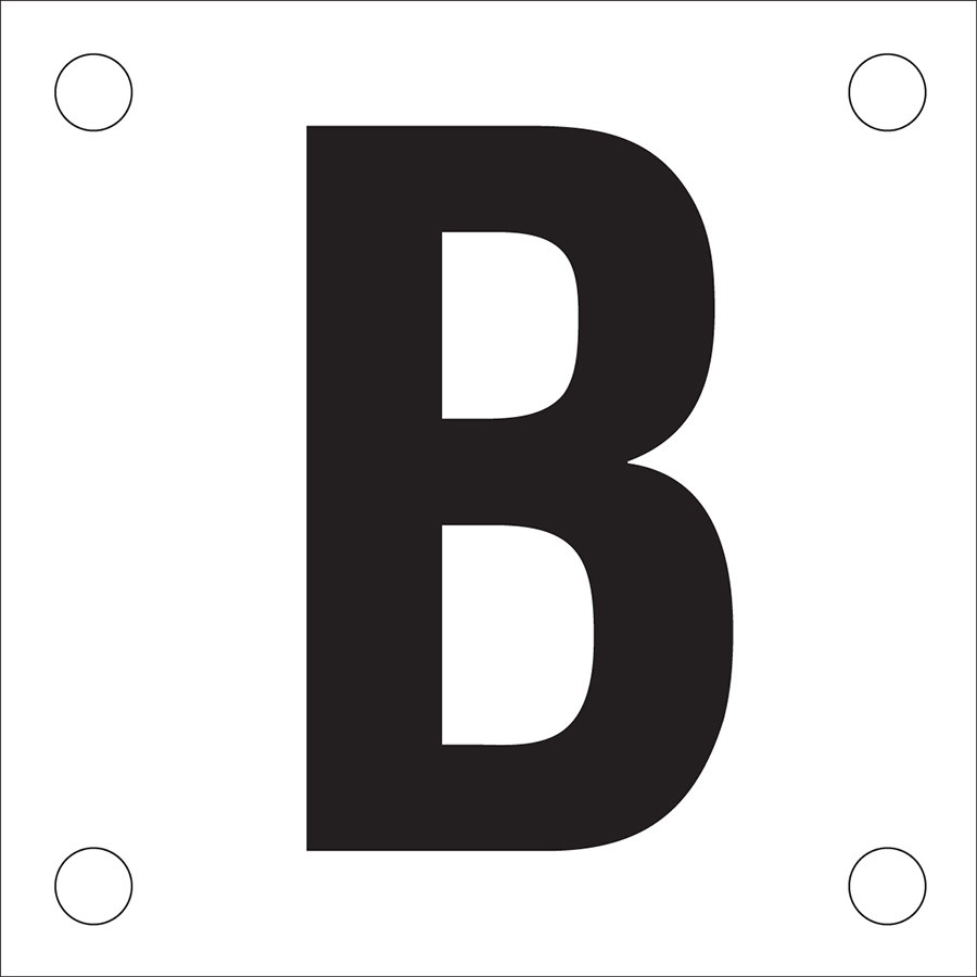 """Letter """"B"""" Phase Markers"""