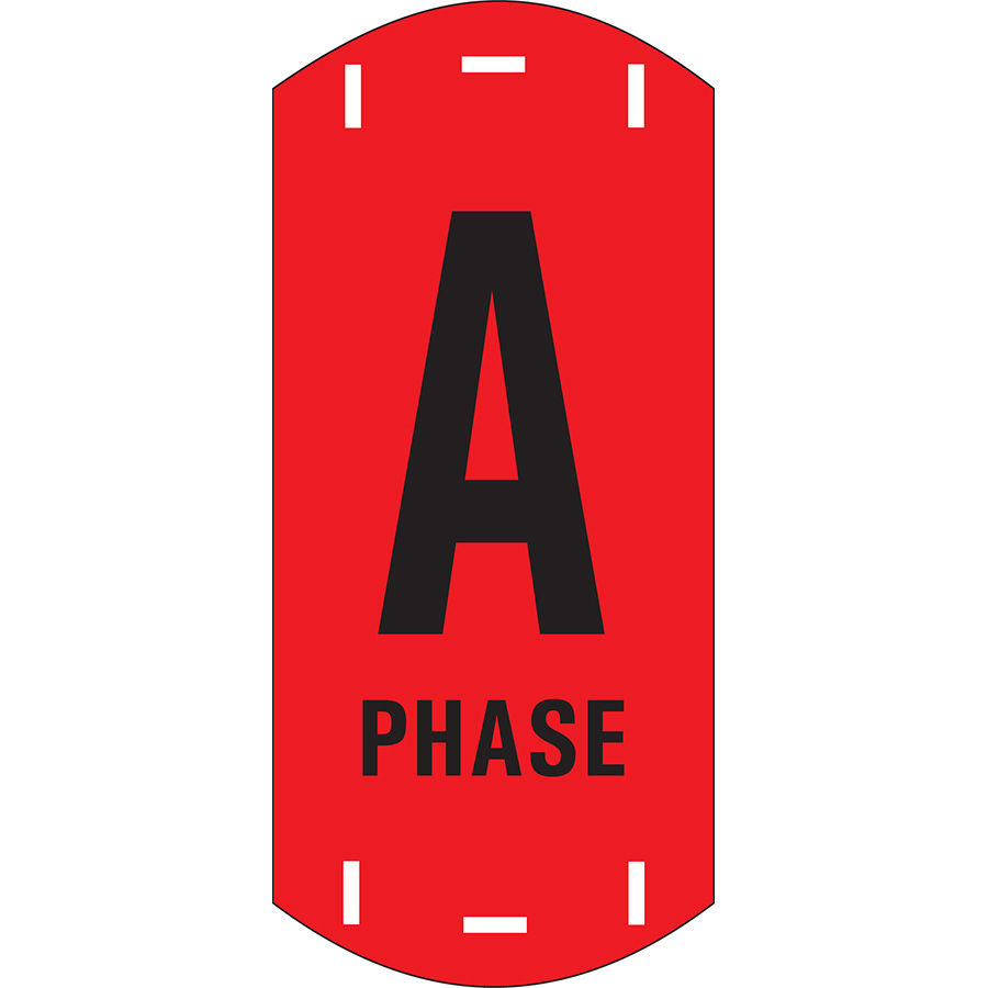 "Black on Red Letter ""A"" Riser Phase Marker"