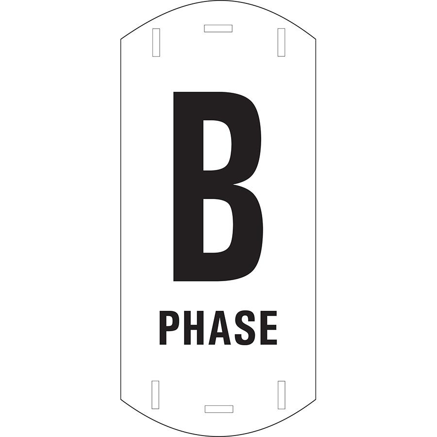 """Black on White Letter """"B"""" Riser Phase Marker"""