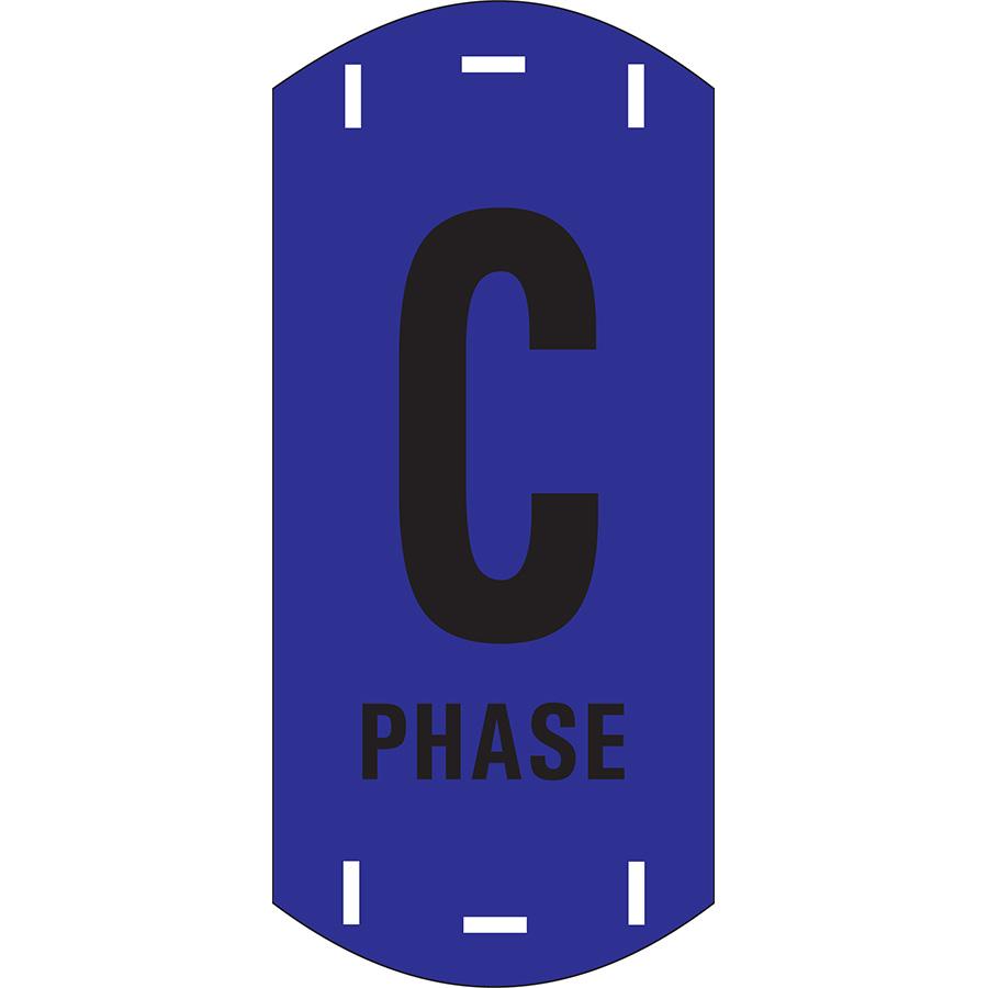 "Black on Blue Letter ""C"" Riser Phase Marker"