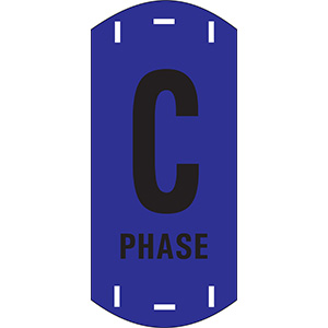 "Black on Blue Letter ""C"" Riser Phase Marker"