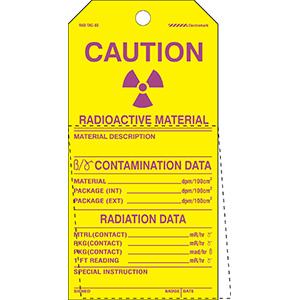 Self-Laminating Radiation Tags