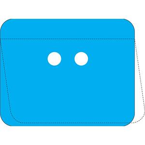 Blue Self-Laminating Polyester URD Tag Kit