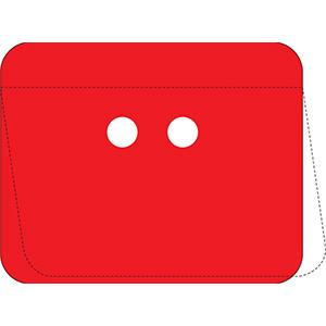 Red Self-Laminating Polyester URD Tag Kit