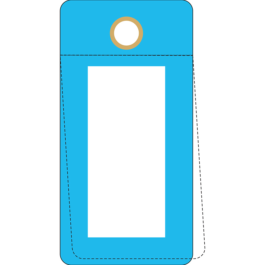 Blue Self-Laminating Valve Tag