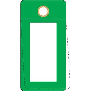 Green Self-Laminating Valve Tag
