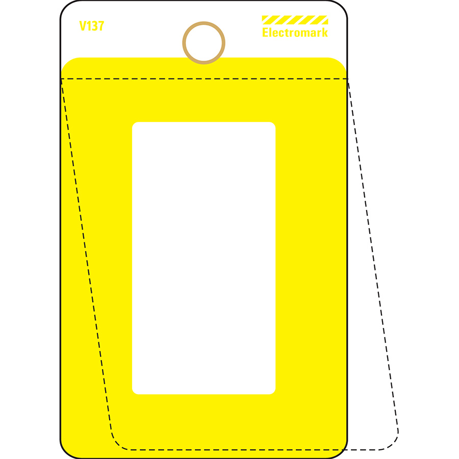 Yellow Self-Laminating Valve Tag
