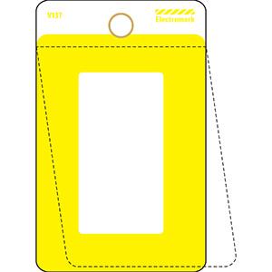 Yellow Self-Laminating Valve Tag