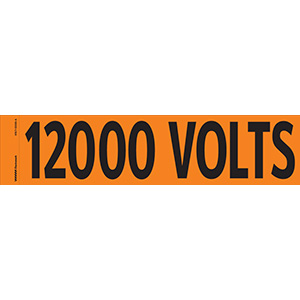 """12000 Volts"" Markers"
