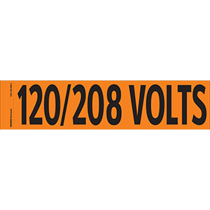 """120/208 Volts"" Markers"