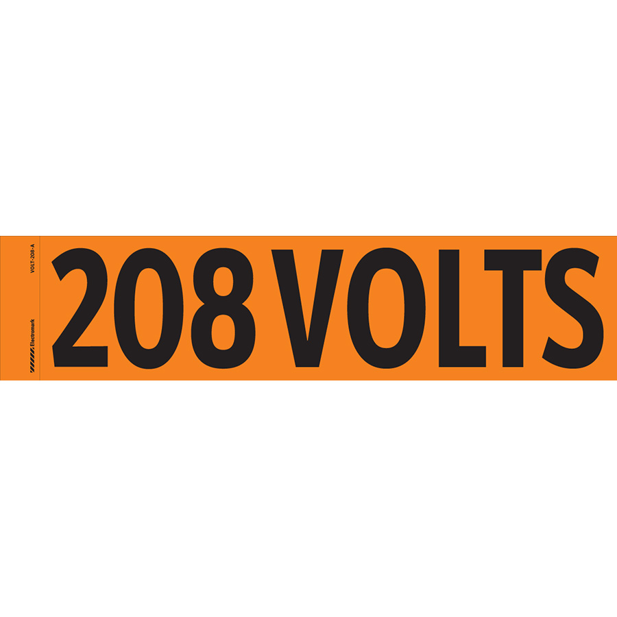 """208 Volts"" Markers"