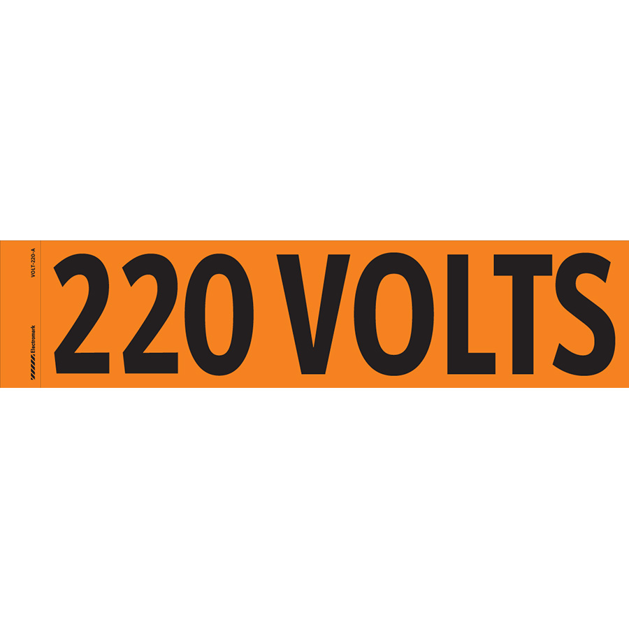 """220 Volts"" Markers"